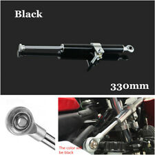 CNC Steering Damper Motorcycle 6 Way Adjust Linear Stabilizer 330mm Universal