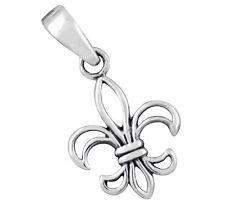 Fleur de Lis französische Lilie kleiner Anhänger aus Silber Fleur de Lys b439