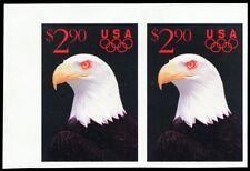 2540Pi, $2.90 Eagle Black Engraved Omitted Imperforate Pair ERROR - Stuart Katz
