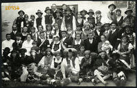 folk theater w amazing faces,  funny costumes, rare, Vintage Photograph, 1920's