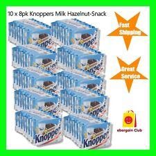10 x 8pk Knoppers Milk Hazelnut Snack Crispy Wafers Made in Germany eBargainClub