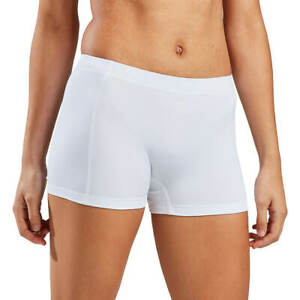 BCG Training Volley Tight Fitted Micro Shorts White Medium