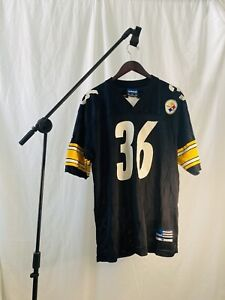 Mens Vintage Adidas Pittsburgh Steelers Jerome Bettis 36 Football Jersey Size M