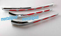 3PCS Goldwing Chrome Fairing Trunk Trim Moldings for Honda GL1800 2001 - 2011