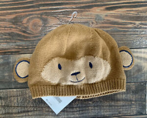 NWT Gymboree Baby Boys Monkey Sweater Beanie Hat 12-24 M 12-18 M 18-24 M