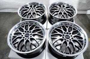 "17"" Black Wheels Rims Fit Honda Accord Civic CRV HRV Pilot Kia Forte Sedona Soul"
