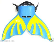 MERMAID FIN BLUE MONOFIN KIDS SWIMMING WIL-MF-06 for up to 12 years old