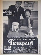 PUBLICITÉ DE PRESSE 1953 LE MOULIN ELECTRIQUE PEUGEOT - ADVERTISING