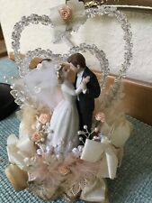 Vintage 1980 Wedding Cake Topper- For Parts?