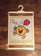 Bothy Threads Mr Happy Mr Men Counted Cross Stitch Kit Photo ou Carte