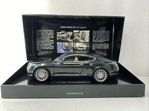 1/18 Minichamps Bentley Dealer PROMO Continental GT Green RARE AWESOME