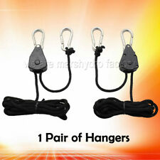 1 Pair of Rope Ratchet Reflector Grow Light Hangers 150lb Weight Capacity Hook