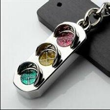 Fashion Mini 3D Traffic Light Car Key Ring Chain  Keyfob Keychain Keyring Gift