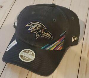 Baltimore Ravens NFL NEW ERA WOMENS 9TWENTY cancer CRUCIAL CATCH HAT CAP