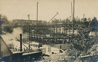 MADISON ME – Steel Frame of New Mill Real Photo Postcard rppc - 1918