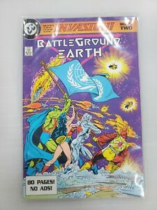 INVASION #2 Book TWO Battleground Earth DC Comics Superman Wonder woman Batman