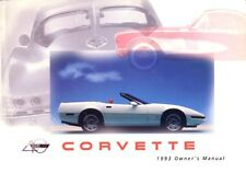 1993 Chevrolet Corvette Owners Manual User Guide Reference Operator Book Fuses