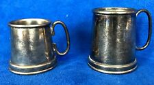 Vintage Italy Raimond Silver Plate Two Measuring cup