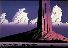 """Eyvind Earle     """"Purple Monument""""    MAKE  OFFER    DSS"""