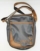 Tottenham Hotspur Small Bag Black and Brown Crossover Shoulder Spurs Crest VGC