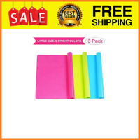 3 Pack Extra Large Silicone Sheets for Crafts, Liquid, Resin Jewelry Casting