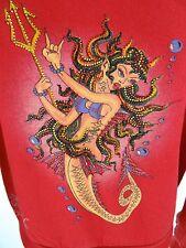 ED HARDY by CHRISTIAN AUDIGIER Hoodie SMALL Jeweled Devil MermaidJacket Top