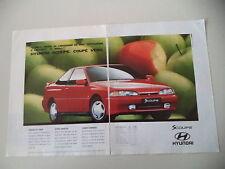 advertising Pubblicità 1994 HYUNDAI SCOUPE S-COUPE'