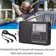 Digital World Full Band Radio Receiver AM/FM/SW/MW/LW/TV Sound Radio Alarm Clock