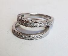 6 +/- 24 small 2 larger stones Diamond & Platinum Wedding & Engagement Rings Sz
