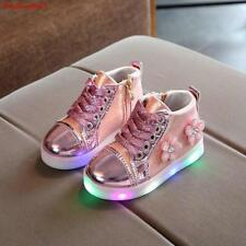 Led Shoes Sneakers Kids Shoes For Girls Toddler Casual Shoes Pink Silver Gold