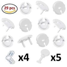 Wemk 20 pièces Cache Prise Bébé avec 5 clés + 4 pièces Protections Coin de Ta...