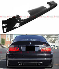 CSL SPORT 2-TONE PAINTED BLK HALF CARBON FIBER REAR BUMPER DIFFUSER FOR E46 M3