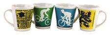 CYCLE LATTE COFFEE CUP TEA MUG 12oz - CYCLING DESIGNS MTB ROAD LOIN OF FLANDERS