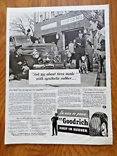 1942 B F Goodrich Tire Ad  at the Firehouse Fireman theme