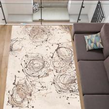 Teppich 100% Schurwolle Natur Stylisches Design Top Modern Fb. Creme-Graphit