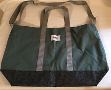 Victoria's Secret Pink OLIVE GREEN ZipTop Tote Bag Weekender HUGE Beach Bag/Tote