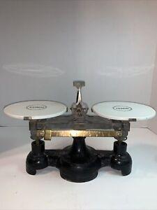 CENCO Antique Merchantile Trip Scales Porcelain Trays Chicago Central Scientific