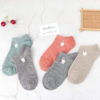 Fashion Embroidery Animal Women Cotton Soft Spring Socks Short Socks Ankle Socks