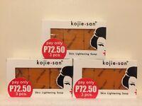 Kojie San 3-Pack Skin Whitening Lightening Bleaching Kojic Acid Soap 9 X 65g