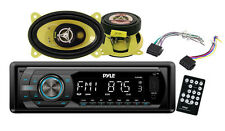 Pyle PLR44M In Dash Car Receiver Stereo Package - 2 Speakers, Harness, Remote