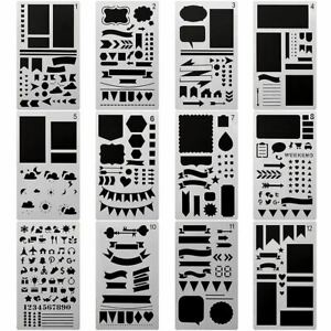 1 Pc Bullet Journal Stencil Set Painting template stencil ruler for Journaling D
