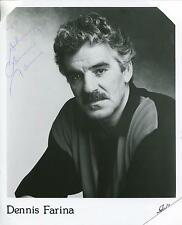 DENNIS FARINA ACTOR IN CRIME STORY & GET SHORTY SIGNED  PHOTO AUTOGRAPH