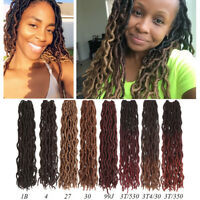"""18"""" Ombre Goddess Faux Locs Synthetic Curly Wavy Crochet Braiding Hair Extension"""