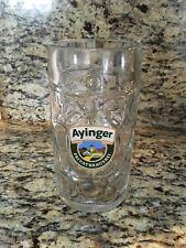 Ayinger Liter Beer Dimpled Mug Glass