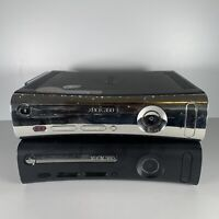 Job-lot Bundle 2X Microsoft Xbox 360 120GB Console Black Tested/Working No Leads