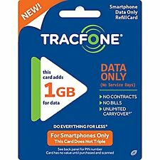 TracFone DATA ONLY 1GB Smartphone Plan PIN #  ONLY