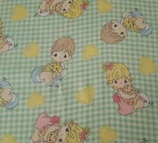 Precious Moments BTY Spectrix Green Gingham Boy Girl 100% Cotton Fabric