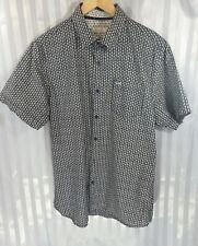 Onfire Navy Blue Floral Short Sleeve Summer holiday Shirt Size XL