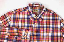 Barney's Coop Gant The Hugger Plaid Cotton Shirt XL EUC Excellent Preowned Cond