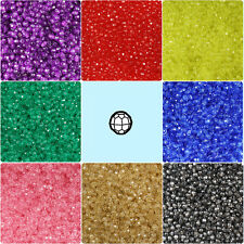 1250 Faceted Round 4mm Plastic Craft Beads - Made in the USA - Choice of colors